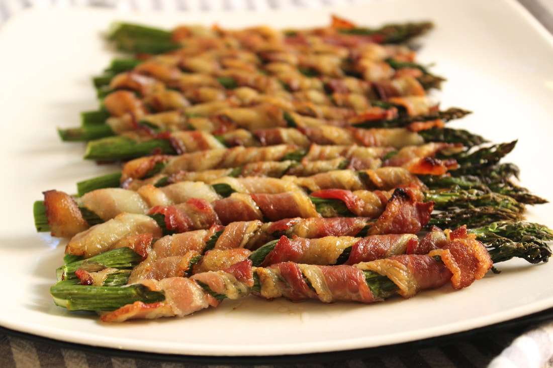 bacon wrapped asparagus photography