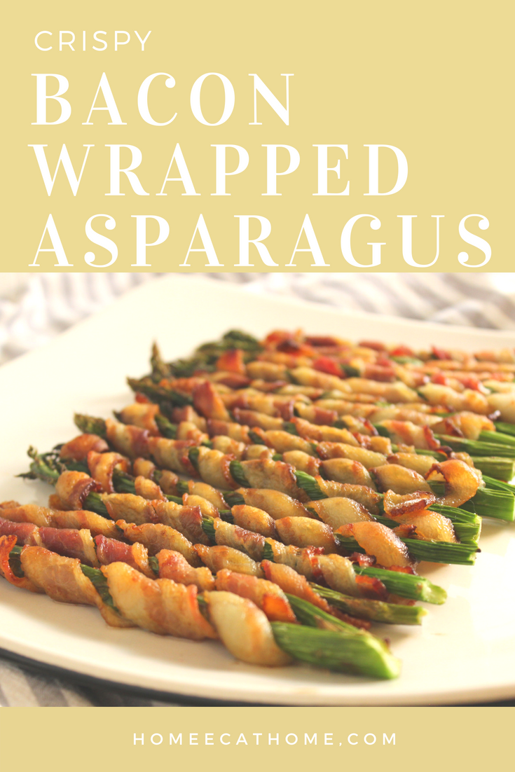Now that asparagus is in season and is actually affordable try making this delicious crispy bacon wrapped asparagus!