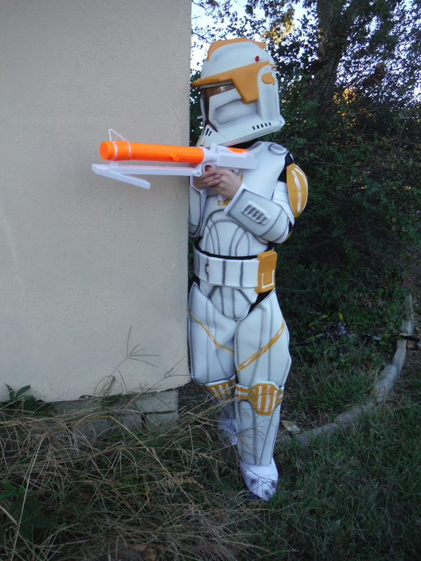he chose this the clone wars commander cody costume and the clone trooper blaster sold separately my son loves this costume with all of the details - Clone Wars Halloween Costumes