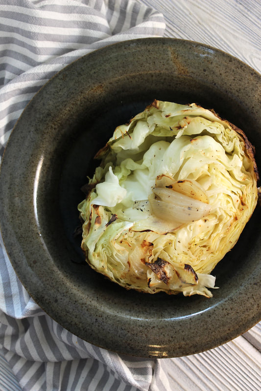 Buttery, tender grilled cabbage
