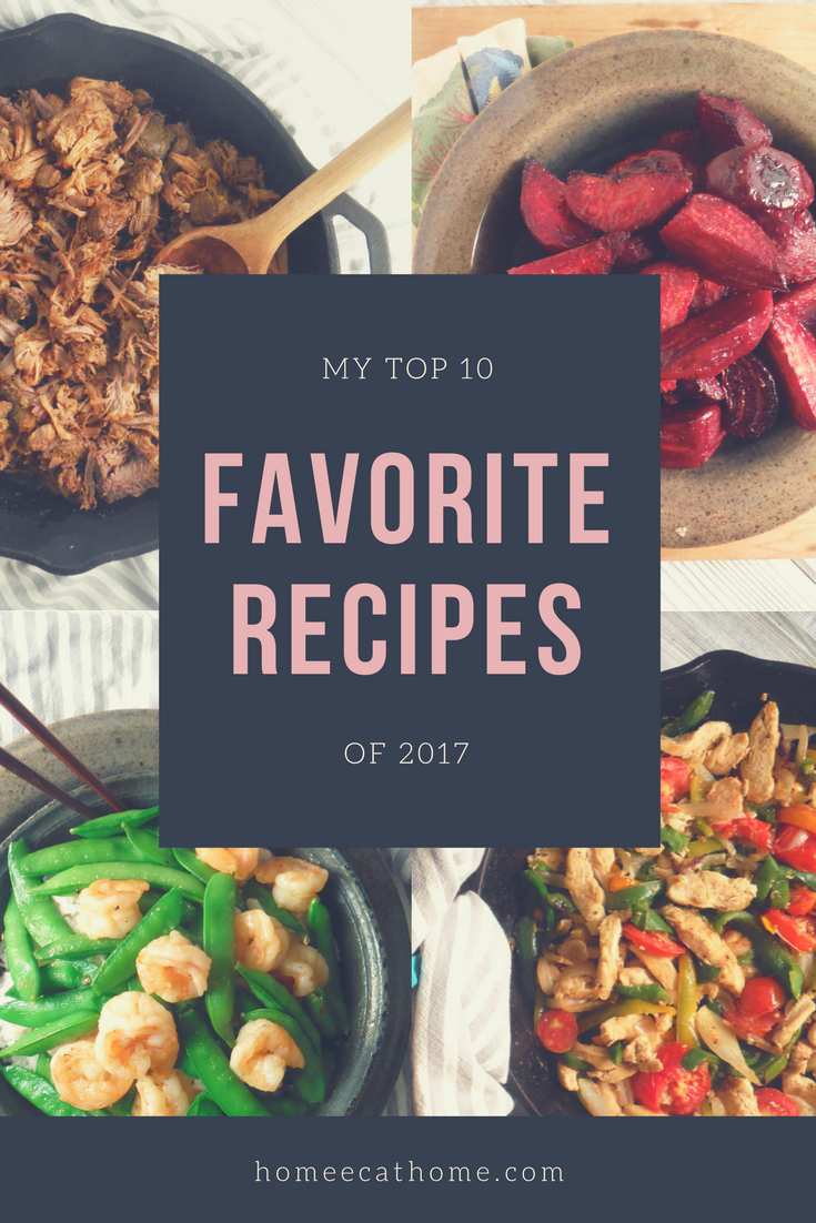 My Top 10 Favorite Recipes of 2017