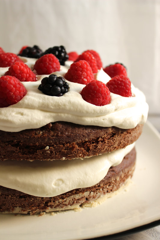 Berries & Cream Chocolate Layer Cake