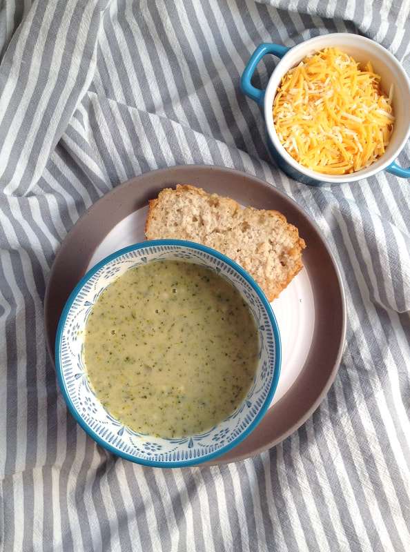 broccoli soup and beer bread