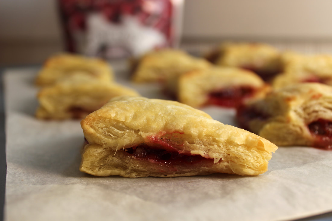 Cranberry Puff Pastry Bites Close-up