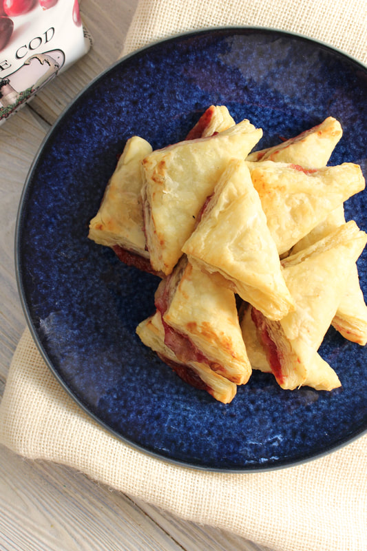 Cranberry Puff Pastry Bites made with Cape Cod Select frozen cranberries