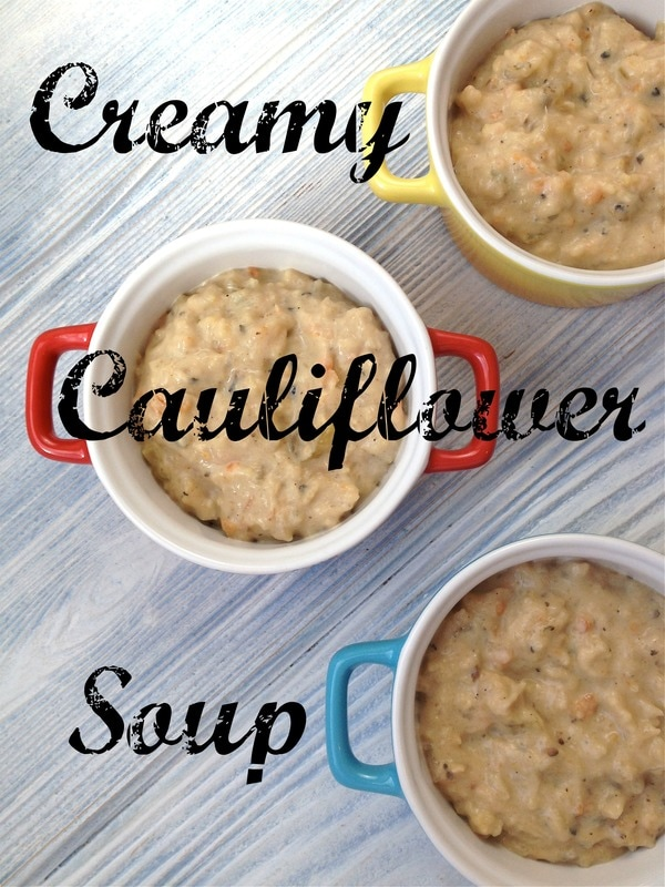 Thick Creamy Cauliflower Soup