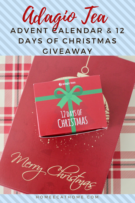 Adagio Teas Advent Calendar and 12 Days of Christmas Giveaway Ends 11/29/20