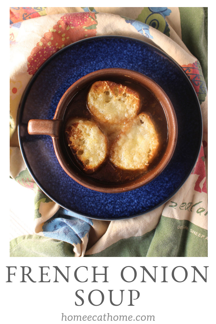 French onion soup is one of my favorite soups of all time with its brothy goodness, caramelized onions, and cheesy crusty bread.