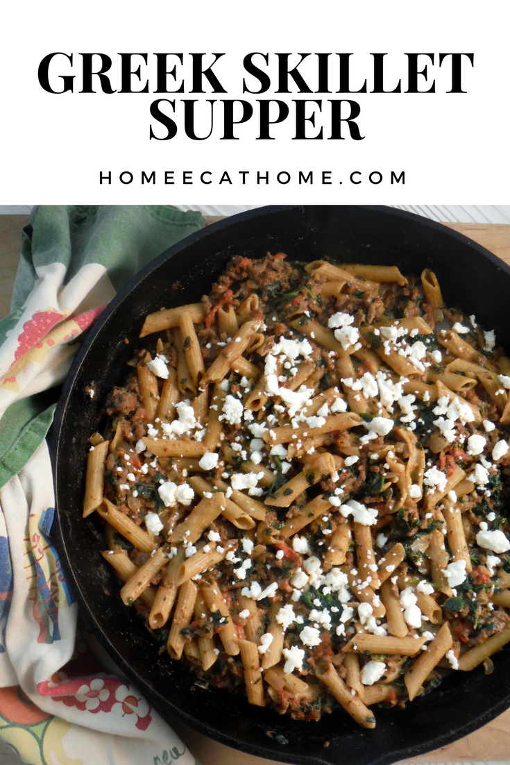 Quick and Easy One Skillet Greek Supper