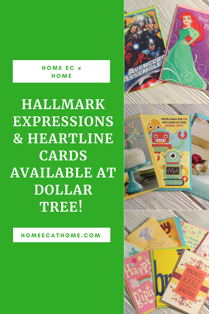 You can now find Hallmark Expressions and Heartline cards at one of my favorite stores, Dollar Tree!