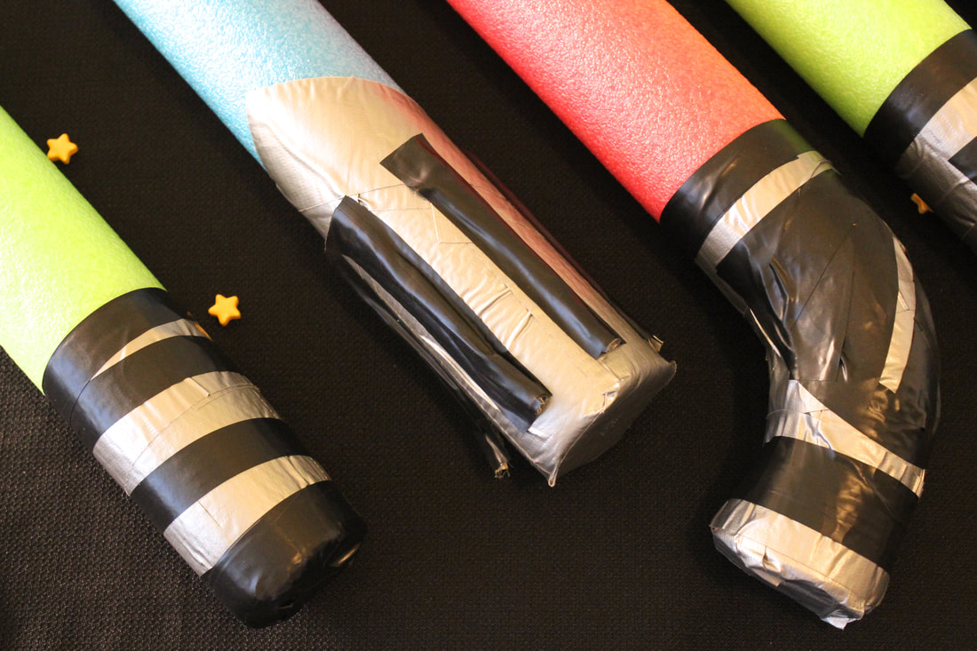 Pool Noodle Light Sabers for Star Wars Party