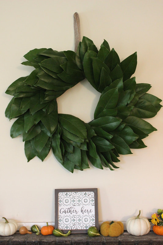 How to Make a DIY Magnolia Leaf Wreath on a budget