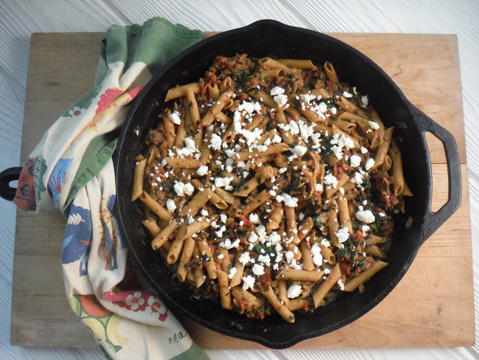One skillet Greek supper