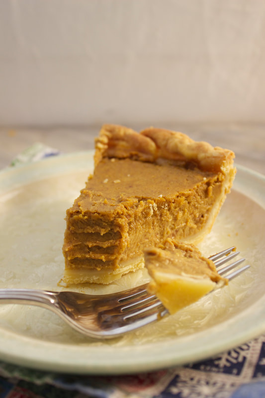 Brown Butter Pumpkin Pie Slice