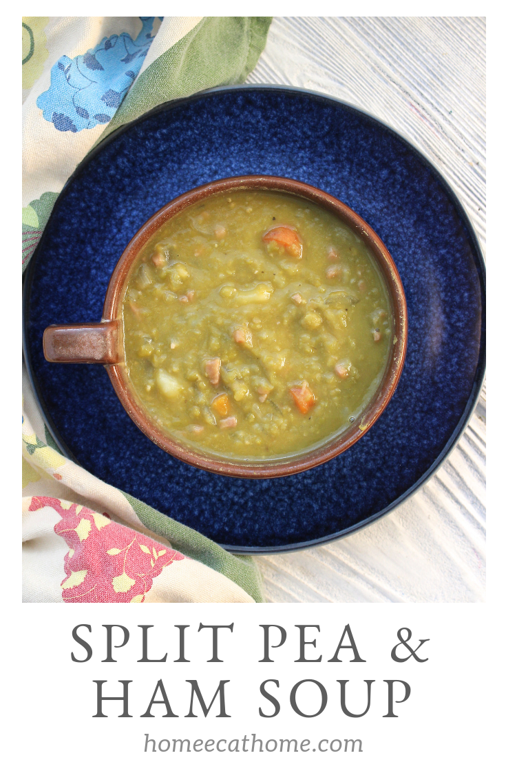 The best Slow Cooker split pea and ham soup